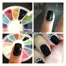 caviar pearl bead nails the crafty ninja