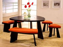 furniture exciting triangle dining tables rounded table with