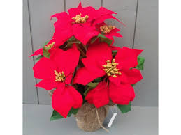artificial poinsettias silk poinsettia plants flowers permabloom
