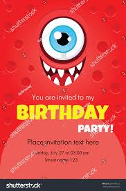 vector birthday invitation card funny cartoon stock vector