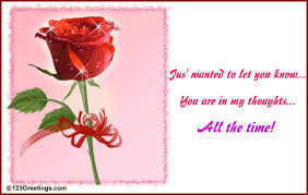 you are in my thoughts free roses ecards greeting cards 123