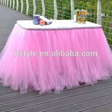 tulle decorations wedding prop birthday prom party baby shower bow table skirts tutu