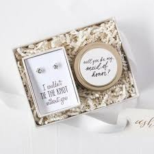 Bridesmaid Asking Gifts Tie The Knot Mini Gift Box Foxblossom Co