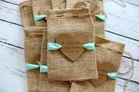 burlap favor bags items similar to burlap favor bags ribbon or jute personalized