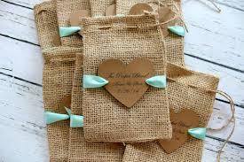 burlap favor bags items similar to burlap favor bags ribbon or jute personalized