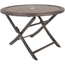 Resin Wood Outdoor Furniture by Folding Resin Faux Wood Table Z Gls Tbl Glsm 43 59 Four