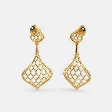new fashion gold earrings plain gold earrings buy 200 plain gold earring designs online in