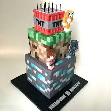 3 Tiered Halloween Cakes Minecraft Cake Cakecentral Com
