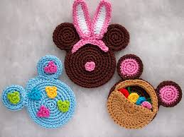 minnie mouse easter egg easter egg bunny and basket mickey crochet pattern easter