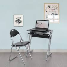 High Quality Computer Desk Furniture Awesome Folding Computer Desk And Chair Gray Frame