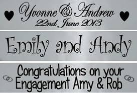congratulations wedding banner personalised silver wedding anniversary engagement banner party