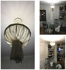 How To Make A Beaded Chandelier Planter And Mardi Gras Bead Chandelier Hometalk