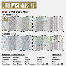 Brussels Metro Map by Streetwise Brussels Map Laminated City Center Street Map Of