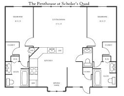 2 bedroom penthouse apartment scholar u0027s quad bloomington indiana