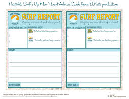 bnute productions free printable surf report new parent advice card