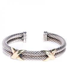 double cross bracelet images David yurman sterling silver 14k gold 5mm double x bracelet 77770 jpg