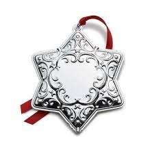 2013 wallace silver plated engravable ornament