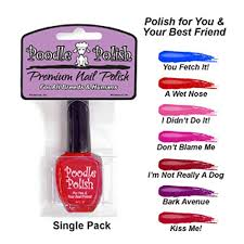 poodle polish dog nail polish red a wet nose with same day