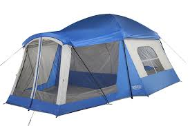 amazon com wenzel 8 person klondike tent blue sports u0026 outdoors
