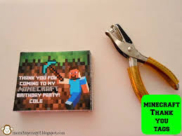 minecraft ribbon running away i ll help you pack minecraft birthday party