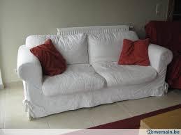 canapé tissu blanc canapé tissu blanc 3 places a vendre 2ememain be