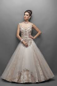 offwhite color indo western bridal gown bridal gowns haute