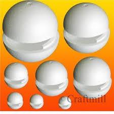large polystyrene balls hollow in 2 halves 15cm to 80cm craft