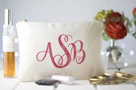 bridal makeup bag monogram makeup bag wedding cosmetic bag bridal makeup bag