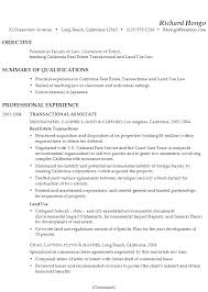 Sample Objectives On Resume by Resume Faculty Law Teaching Real Estate Transactional Law