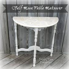 white half moon table half moon table makeover hometalk