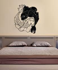 kid friendly vinyl wall decal sticker koi fish yin yang