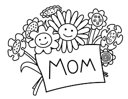mothers day coloring pages for children kids toddlers happy