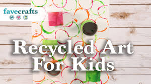 recycled art project for kids youtube