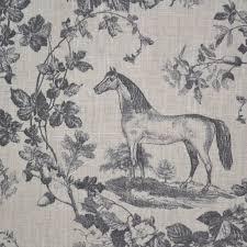 100 linen fabric equestrian horse print u0027the noble horse u0027 in
