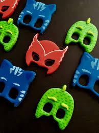 edible dozen pj masks themed fondant cupcake sabzcakes