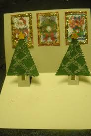 christmas tree popup card craft kraftykid