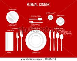 formal dinner table setting formal dinner place settings dinner table stock vector 2018