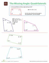the missing angle quadrilaterals the missing angles and worksheets