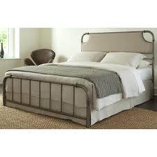 Beige Upholstered Bed Snap Bed With Beige Upholstered Headboard And Folding Metal Side Rails