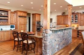 rustic kitchen style ideas with wooden stone kitchen island ideas