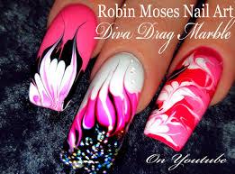 no water needed pink diva diy drag marble nail art tutorial