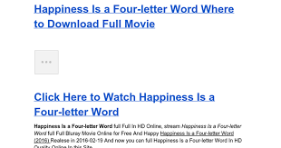 happiness is a four letter word 2016 streaming google docs