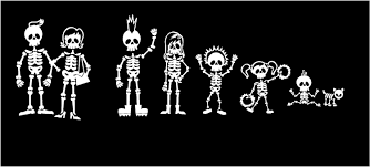 skeleton family stick family vinyl car wall decal stickers zoom