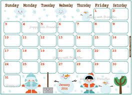 printable calendar 2016 etsy january 2016 decorative calendars blank calendar design 2018