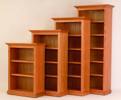 Cherry Wood Bookcase With Doors Bookshelves Cherry Wood Home Design