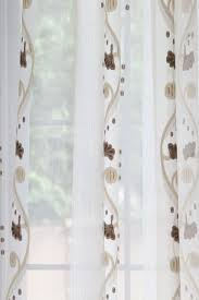 rose and vine sheer curtains chocolate