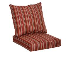 Plantation Patterns Seat Cushions by Hampton Bay Dragonfruit Stripe 2 Piece Deep Seating Outdoor Lounge