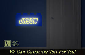 building brick custom name that glows in the dark a wall decor