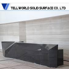 custom made reception desk custom made black marble long size reception desk reception table