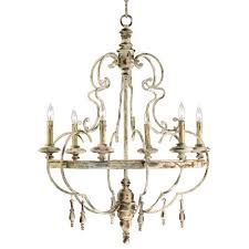 Ivory Chandelier Da Vinci 6 Light Country Antique Ivory Chandelier Kathy